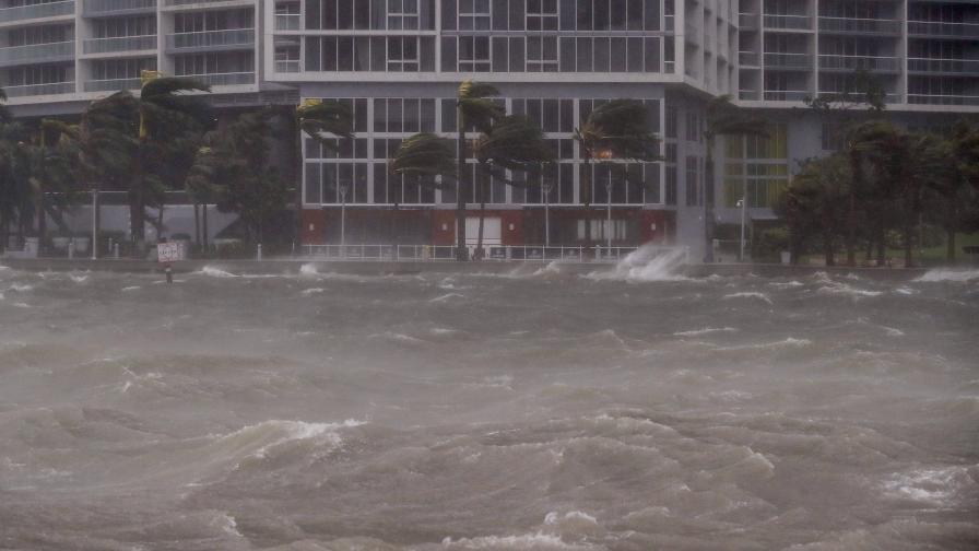 """Ето как """"Ирма"""" премина през Маями"""