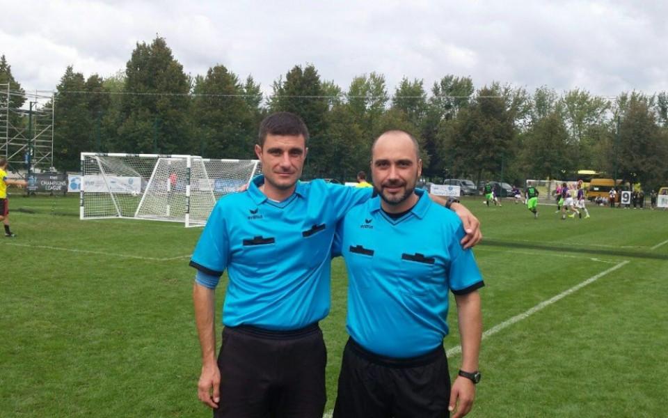 Българи ръководиха финала на Шампионската лига по минифутбол
