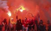 Фенове на Спартак М обстрелват турски рефер със сигнална ракета