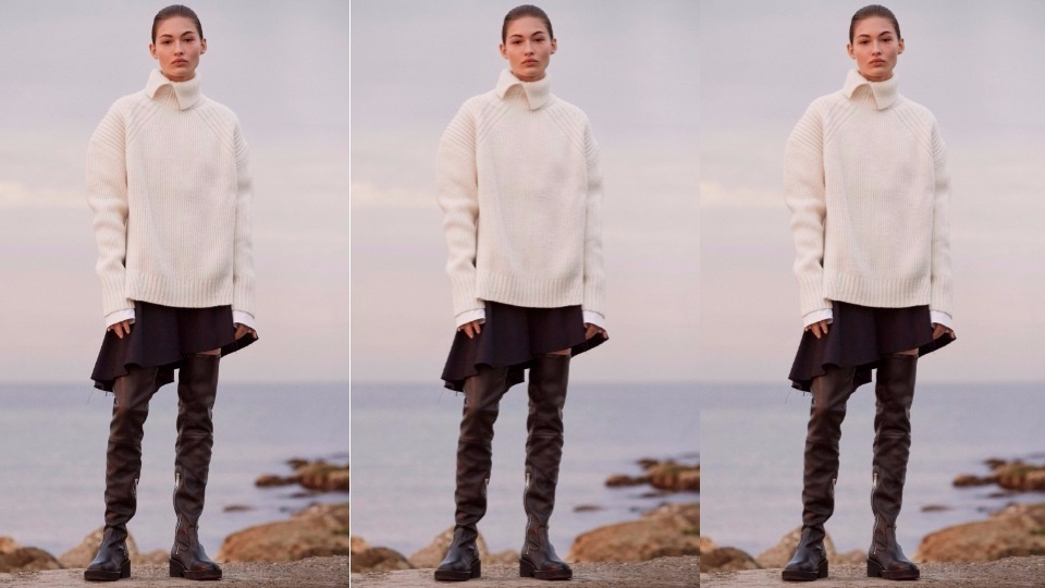 Влюбена в есента: с обемния вълнен пуловер с поло яка на HM