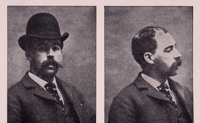 Снимка след ареста на Херман Уеъбстър Мъджет.