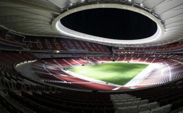 Стадионът на Атлетико с нова трева