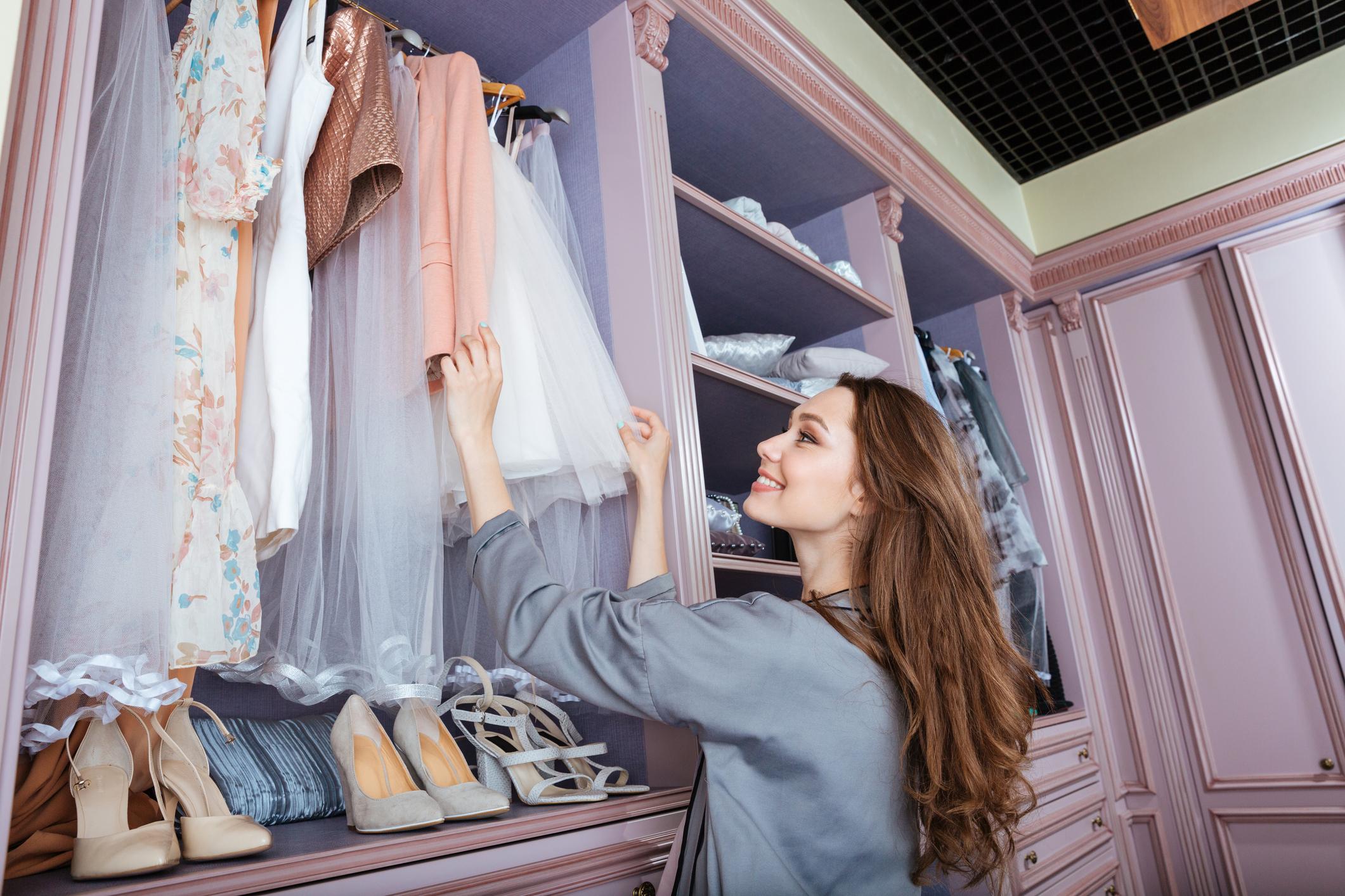 Когато си превзела огромна част от гардероба.