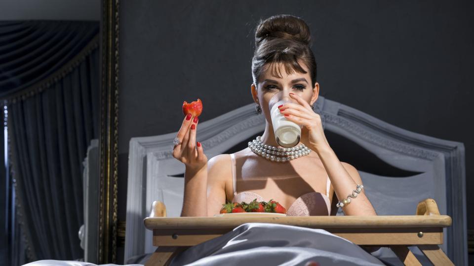 жена отслабване легло закуска