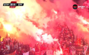 Факли в Сектор Г горят в подкрепа за ЦСКА