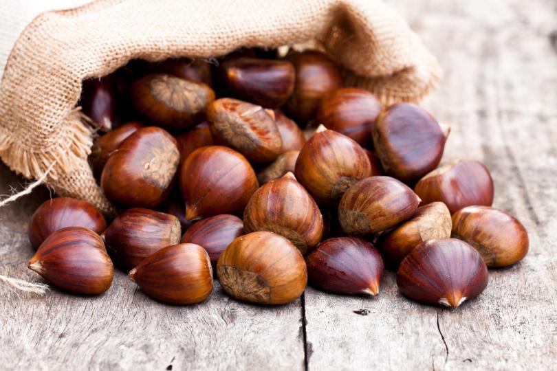 <p>Кестени - Кестените имат високо съдържание на витамин В6. Те действат подмладяващо на кожата и подсилват цялостност имунната система. Подходящи за крем супи, яхнии, тестени ястия. Печените кестени пък са идеалната междинна закуска.</p>