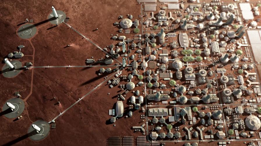 Градът на Марс според SpaceX