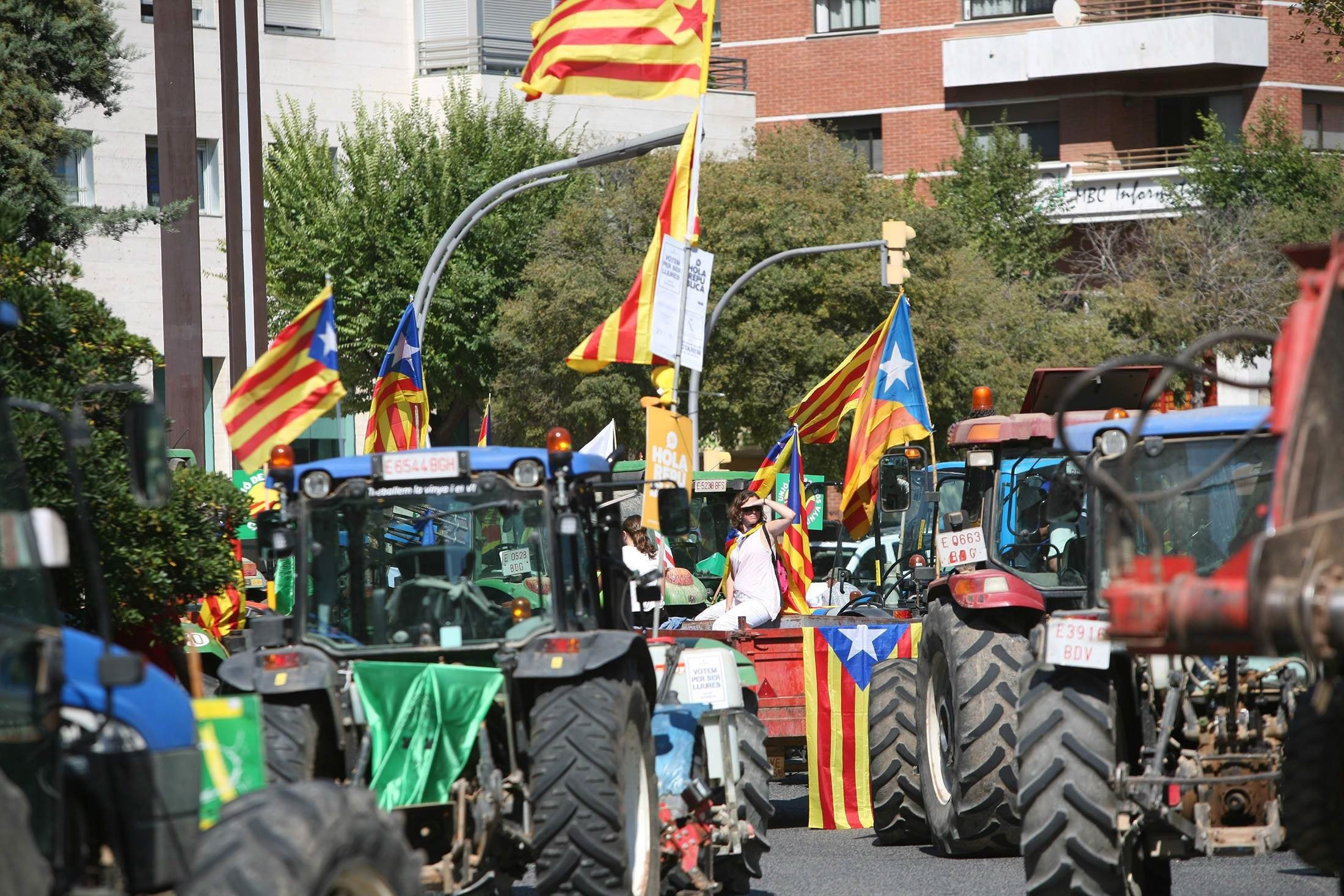От съдебни битки до шумни улични демонстрации - борбата за провеждането на референдум за независимост в Каталуния е безмилостно жестока. Кулминацията трябва да е в неделя, за когато е насрочено допитването, въпреки опитите на правителството да осуети гласуването.