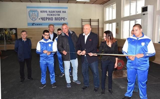 Oбновената зала по щанги на Черно море източник: Пресслужба на Министерство на спорта