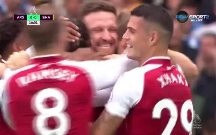 С гол на Монреал Арсенал поведе на Брайтън