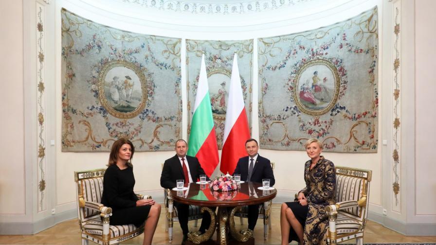 Десислава Радева и Румен Радев в Полша