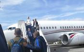 Националният отбор на Франция пристигна на родна земя<strong> източник: facebook.com/BulgarianNationalTeam</strong>