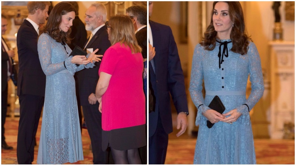 Кейт Мидълтън показа бременното си коремче за първи път!