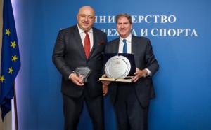 Министър Кралев се срещна с президента на IFT Дейвид Хагърти