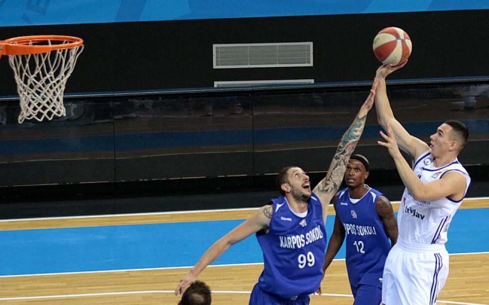 Йордан Минчев с добър мач за МЗТ Скопие