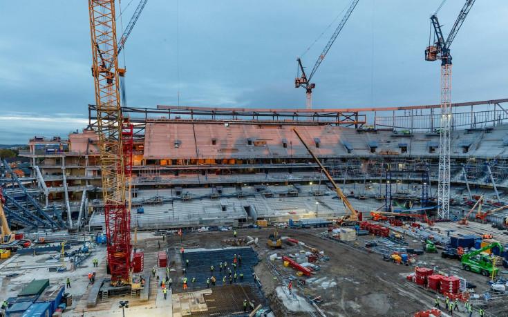 Тотнъм показа пресни снимки от страхотния нов стадион