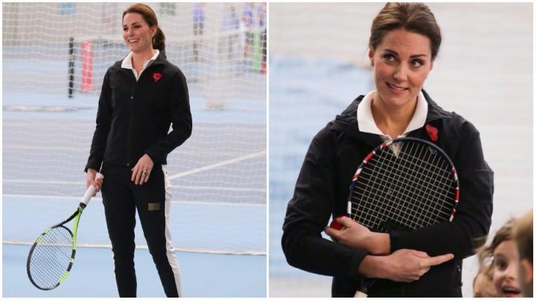 Бременната Кейт Мидълтън показа страхотна форма и умения на тенис корта