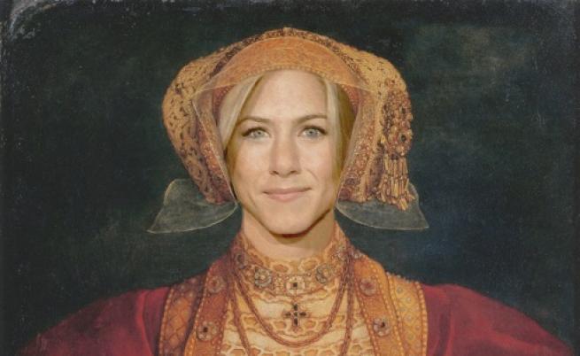 Дженифър Анистън  като една от съпругите на Хенри VIII