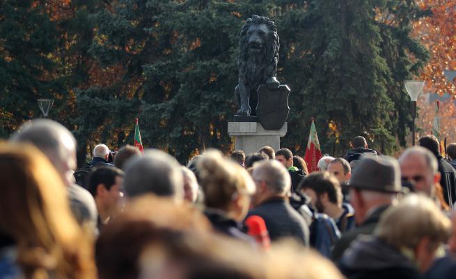 Статуята на лъва пред НДК