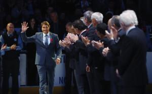 Теему Селане и Пол Кария в Залата на славата на НХЛ