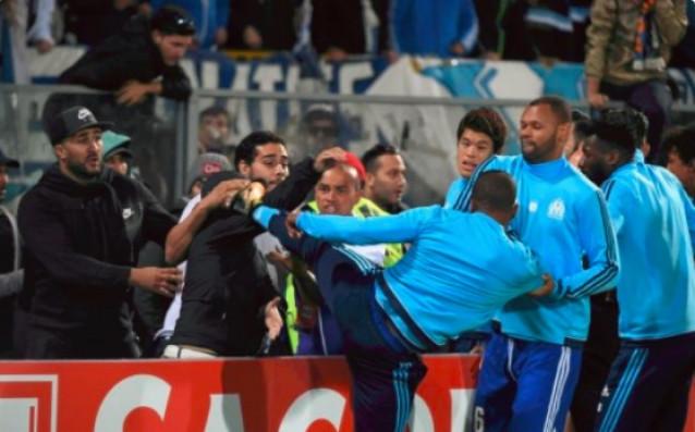 Неотдавнашният сблъсък на Патрис Евра с фен преди мача Гимараеш