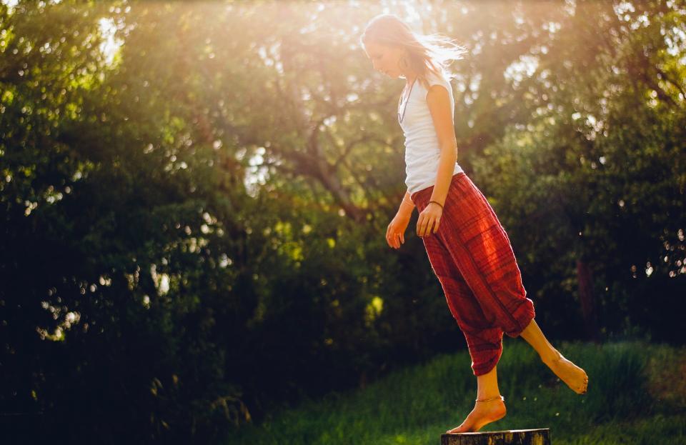 йога жена