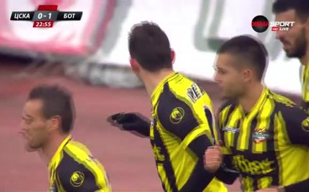 Ботев поведе на ЦСКА след спорна дузпа