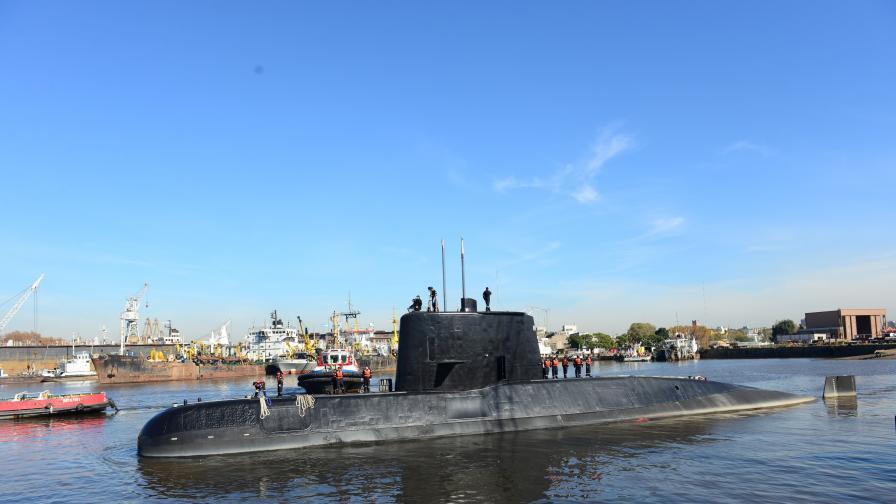 Критичен момент в търсенето на аржентинската подводница