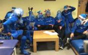 Дядо Коледа се премени в синьо, левскарите празнуват