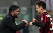 Най-после радост за Гатузо, Милан с първи успех под негово ръководство