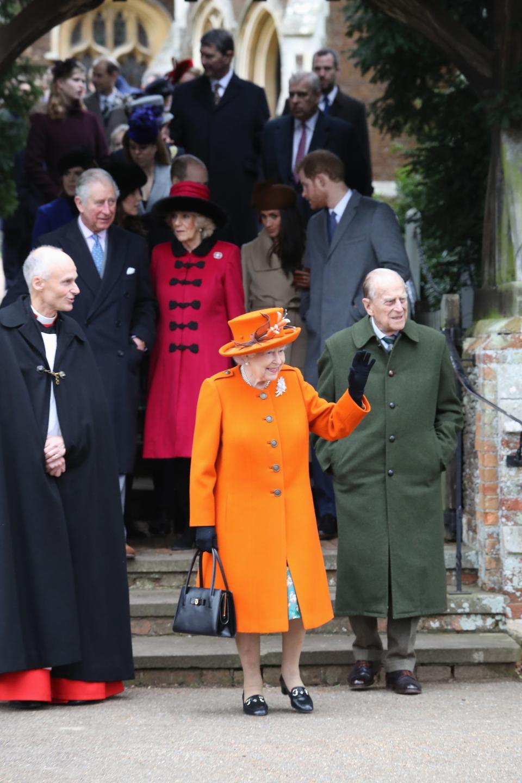 Кралица Елизабет II на традиционната коледна служба, 25.12.2017
