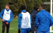 Кадри от тренировките на Левски в Малта