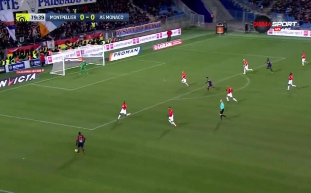 Шампионът Монако направи грешна стъпка при визитата си на Монпелие