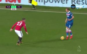 Манчестър Юнайтед - Стоук 2:0 /първо полувреме/