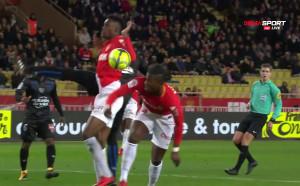 Спорен гол даде аванс на Монако срещу Ница