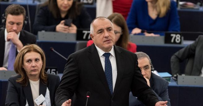 Премиерът Бойко Борисов представи днес пред Европейския парламент в Страсбург