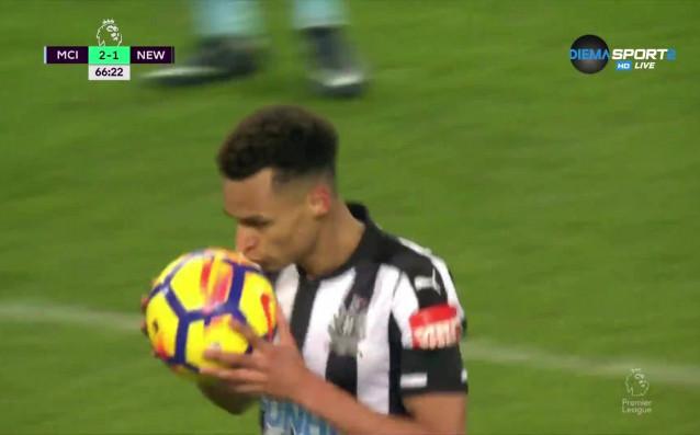 """Нюкасъл успя да вкара гол на Манчестър Сити на """"Етихад""""."""