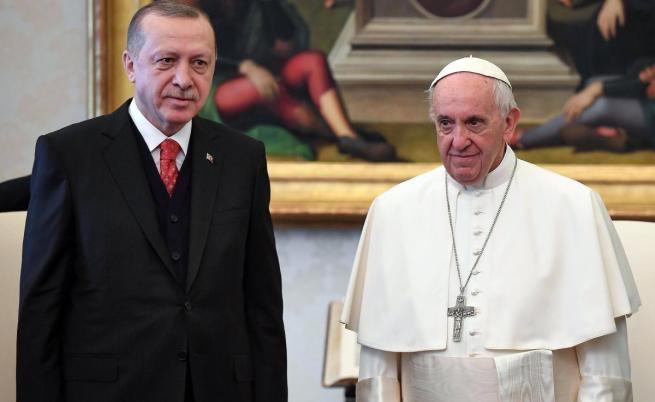 Реджеп Ердоган и папа Франциск
