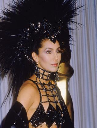 """Шер на наградите """"Оскар"""" през 1986 г."""