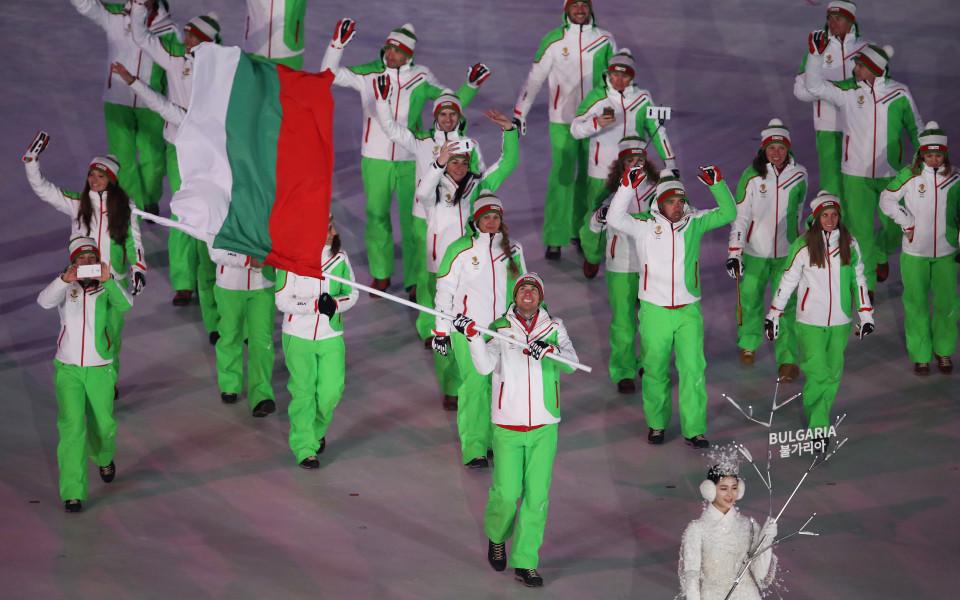 Българският флаг грейна на Олимпийските игри