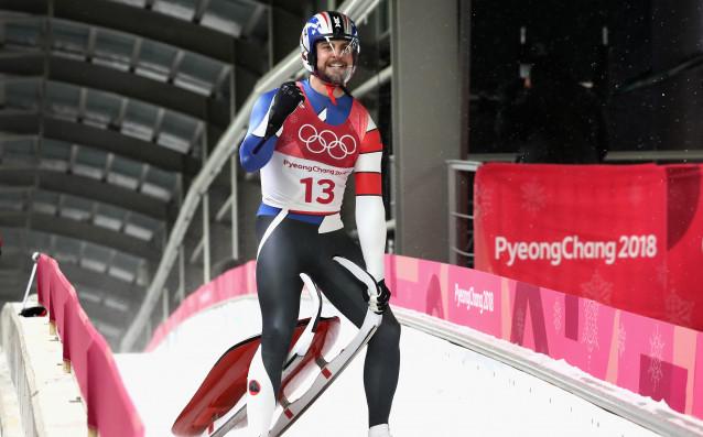 Австриецът Давид Глайршер триумфира изненадващо олимпийската титла на шейнички на