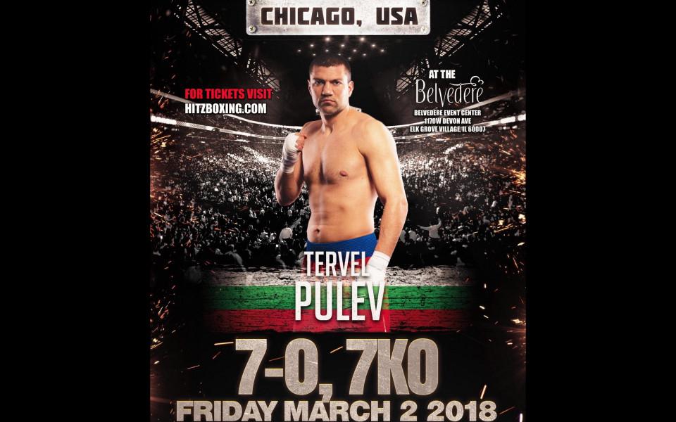 Тервел Пулев ще се боксира в САЩ навръх 3-ти март