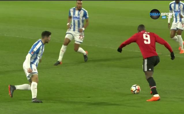 Ромелу Лукаку откри резултата в двубоя между Манчестър Юнайтед и