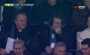 Жерар Депардийо гледа любимия си тим срещу Бордо