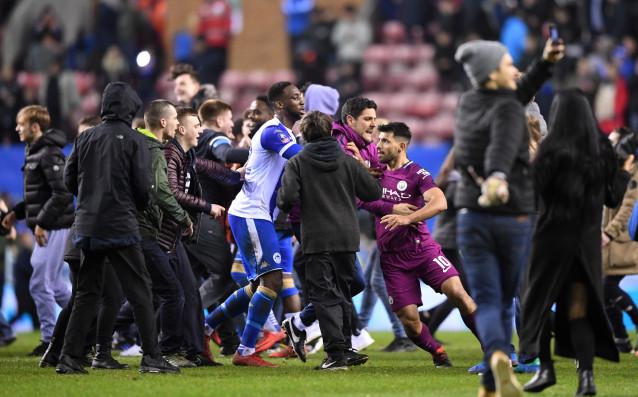 Нервите на Серхио Агуеро след загубата на Манчестър Сити от