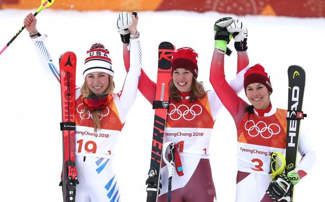 Швейцарски триумф в комбинацията, Вон завърши Олимпиадата с отпадане