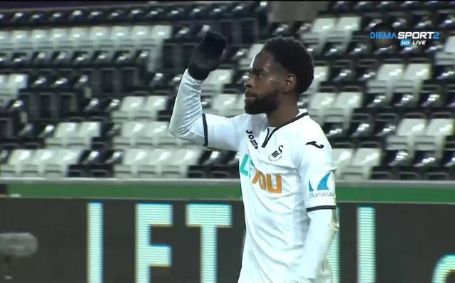Нейтън Дайър покачи за 2:0 за Суонси срещу Шефийлд Уендзи