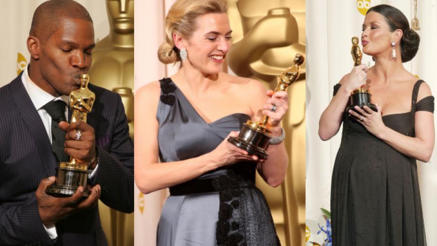 """Къде звездите държат """"Оскар""""-ите си"""