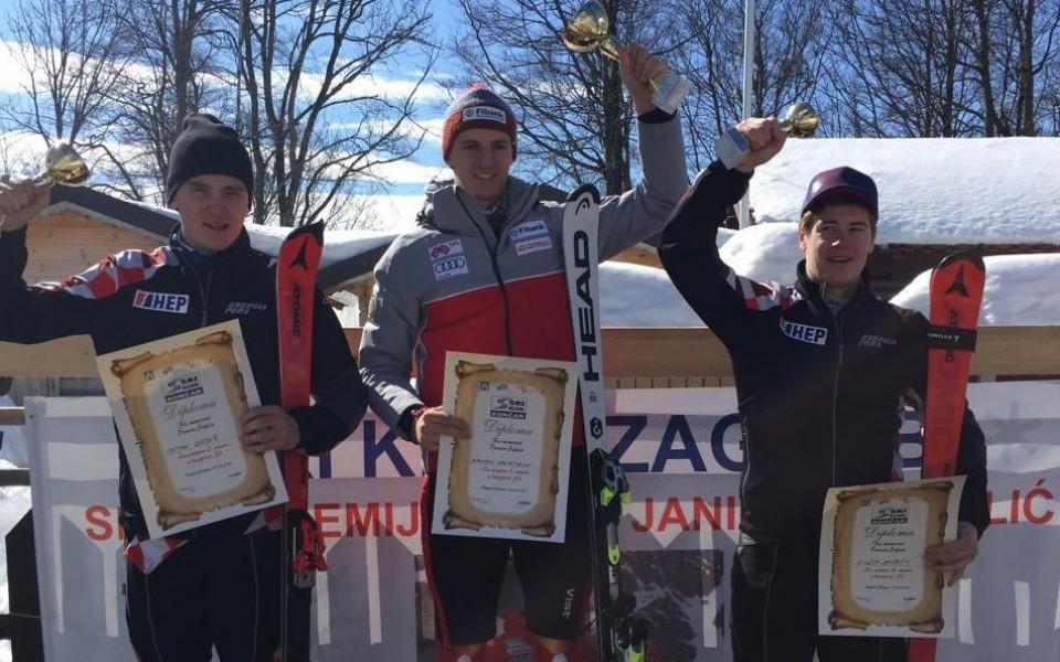 Камен Златков със страхотна победа на слалом в Загреб