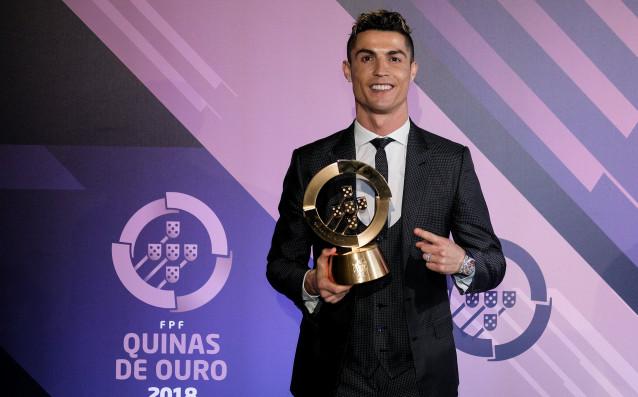 Нападателят на Реал Мадрид Кристиано Роналдо получи наградата за най-добър